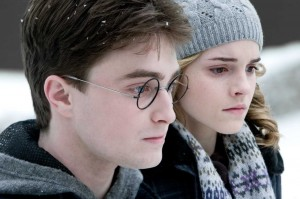 Harry and Hermione take a moment to reflect on how to get rid of Potter's dandruff